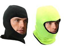 Hi Viz Balaclava Reversible Black or Hi Vis Visibility Cycling Thermal Hat Cold