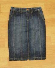 Zara Knee Length Casual Denim Skirts for Women