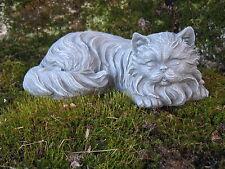 Cat Statue, Long Haired Concrete Cat, Concrete Cat, Cement Garden Statues, Art