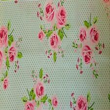 Gutermann Summer Loft Fabric White and Pink Roses.Floral.Chic.Vintage.By the FQ.