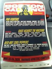 Poster Boston Calling Festival 2020 Harvard Red Hot Chili Peppers Foo Fighters