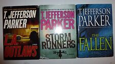 T. Jefferson Parker 3 Hardcover Book Lot: The Fallen, Red Light, L.A. Outlaws M5