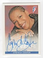 2005 WNBA Authentic Original Autograph Cynthia Cooper Houston Comets HOF