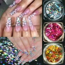 Holographic Nail Glitter Paillette Butterfly Gradient 3D Flake Stickers Nail Art