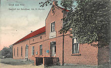Gruß aus Klix, Sachsen, Gasthof zur Scholtisei, Postkarte 1918