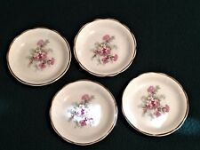 4 Vintage Salt/Butter Dishes Floral Pattern