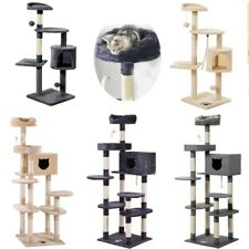 Cat Tree Scratching Post Activity Centre Sisal Bed Toys Climbing Scratcher Tower