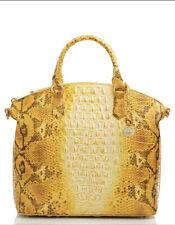 Brahmin Large Duxbury Satchel Canary Ombre Melbourne Leather Bag