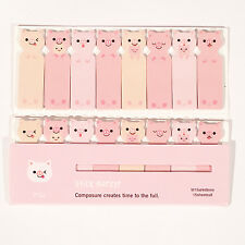 120 FOGLI Maiali Rosa Animale Mini Sticky Notes pagina marcatore Scheda Memo Adesivo UK