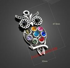 PJ01020 1pc Retro Tibetan Silver owl pendant Jewelry Accessories wholesale