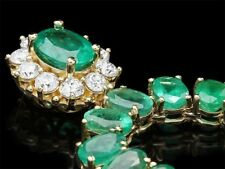 Certified Colombian Emerald 45.00cttw and 1.80cttw Diamond 14KT Necklace