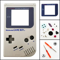 Nintendo Game Boy Original DMG-01 Replacement Housing Shell Screen Lens Gray