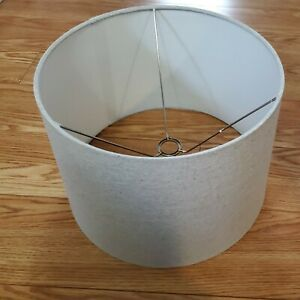 New Large Gray Drum Lamp Shade