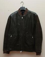 VL NWT VINCE LEATHER SUEDE MEN BOMBER JACKET WITH QUILTED SLEEVE SIZE L $1,095
