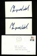 """Ingvar Wixell D.2011 Baritone Signed 3"""" x 5"""" Index Card"""