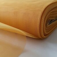 Net Dress Tutu Tulle Fabric Mesh 100% Nylon Material 150cm Wide- GOLD- FREE P&P