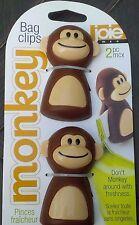 MSC Joie Monkey Themed Snack Chip Bag Clips - 2 pack (1 set)