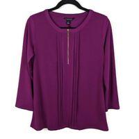 New Stitch Fix | 41 Hawthorn Top Zip ¾ Sleeve Knit Blouse - Size Medium - NWOT!