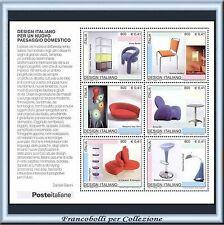 2001 Italia Repubblica Foglietto Design Italiano n. 34 Nuovo Integro **