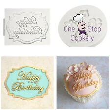 Katy Sue HAPPY BIRTHDAY Mini Plaque Silicone Mould Sugarcraft Art & Craft