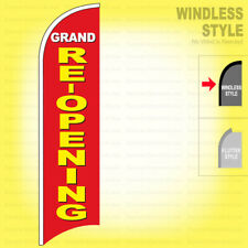 Grand Re Opening Windless Swooper Flag 25x115 Ft Feather Banner Sign Ryb