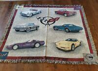 Mill Street Chevrolet Corvette  Throw Blanket . USA.  Rare. 56x50 in.  Vintage