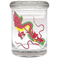 RASTA DRAGON Airtight Smell Proof Spice Herb Storage GLASS STASH JAR 1/8 oz
