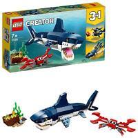 LEGO 31088 Creator 3-IN-1 Deep Sea Creatures Shark Crab And Squid Building Set