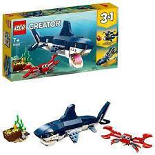 LEGO 31088 Creator 3-IN-1 Deep Sea Creatures Shark Crab And Squid Building Set