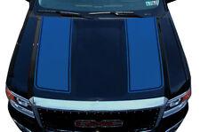 Custom Vinyl Graphics Decal Wrap Kit for 2014-17 GMC Sierra RACING STRIPES Blue