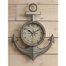 Cooper Classics Maritime Clock, Aged Silver with Under Glass - 41321