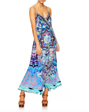 NEW CAMILLA THREADS OF COSMOS STRAPPY WRAP DRESS SILK CRYSTALS rrp $649
