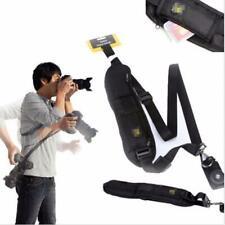 Kamera Single Shoulder Belt Sling Für SLR DSLR Kameras Canon Sony Nikon Black