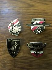 Set of 4 German  Military  Badges 1941 -1942 world  war  11   SALE PRICE