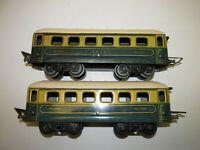 Konvolut 2 alte JEP Pullmann Spur 0 Blech Eisenbahn Personenwagen Länge 24cm