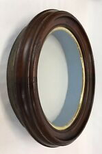 Antique 19th C Victorian Oval Walnut Deep Shadow Box Frame 7 3/4 x 10 Opening