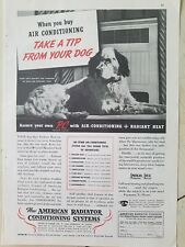 1935 American Radiator Co Air Conditioning radiant heating Spaniel dog tip ad