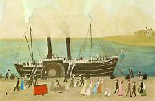 Mounted Print. Helen Bradley. King Orry. Paddlesteamer. Fleetwood