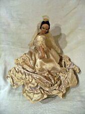 poupée tres mauvais etat - danseuse  folklore espagnol -pour piece ou a reparer