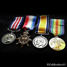 4x Group Set Military Medal , 1914 -15 Star , British War & Victory Medal Repro,