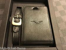 Brand NEW Genuine Vertu Luggage Tag Black Leather Super RARE VIP GIFT RARE