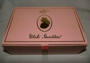 NEW Vintage 300 Set Evyan Perfumes White Shoulders 2.5 oz Cologne Powder + Puff