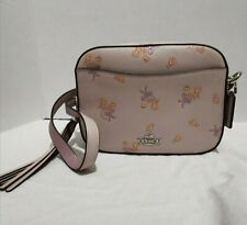 Coach Floral Bow Print Crossbody Camera Bag Ice Pink 29347 NWT
