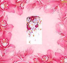 Blumen - 22 Wraps Nailart Wassertransfer Folie Tattoo Sticker Decal 14 Stk.