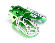 NEW MDR PRO BITE CNC WIDE FOOT REST PEGS GREEN KAWASAKI KX 250 05 - 07 77305