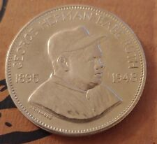 1969 Franklin Mint Babe Ruth sterling silver art round