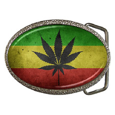 Marihuana Rasta Reggae Estilo Bandera Hebilla de cinturón-gran regalo artículo
