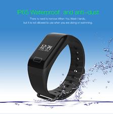 Black Heart Rate Fitness Tracker Smart Bracelet Wristband Watch Sleep Monitor