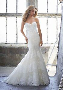 Mori Lee 8216 Size 8 GENUINE Wedding Dress Ivory With Tags