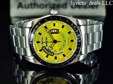 NEW Invicta Men's 45mm Specialty Quartz YELLOW LEMON Dial Silver Tone SS Watch